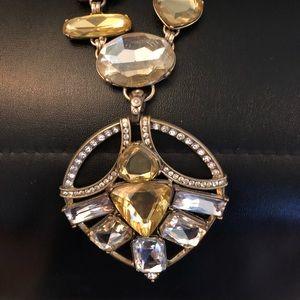 Rhinestone encrusted art deco inspired necklace